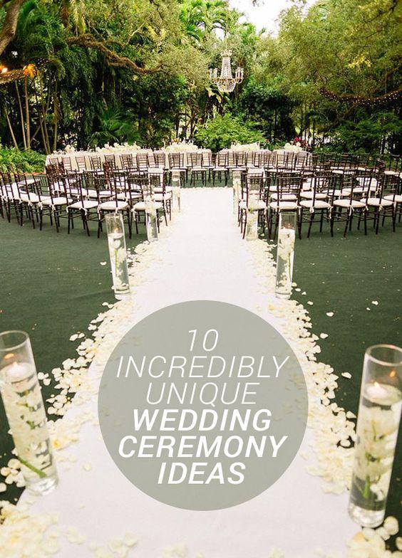 10 incredibly unique wedding ceremony ideas unique for Unique wedding ceremony ideas