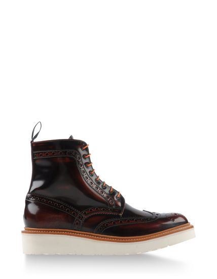 Grensen Maroon Ankle Boots Fall Winter 2014-2015 $653 at TheCorner