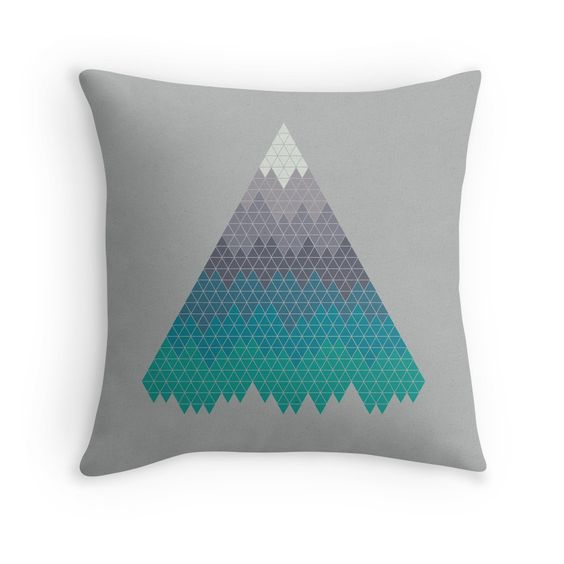 Many Mountains' Throw Pillow by
