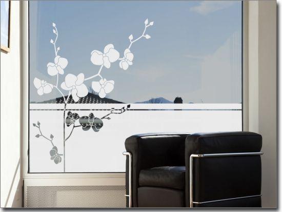 Fensterfolie Bezaubernde Orchidee Fensterfolie Fenster Folie Fur Fenster