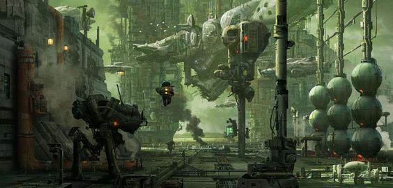 Environment Concept art from Hawken by Khang Le