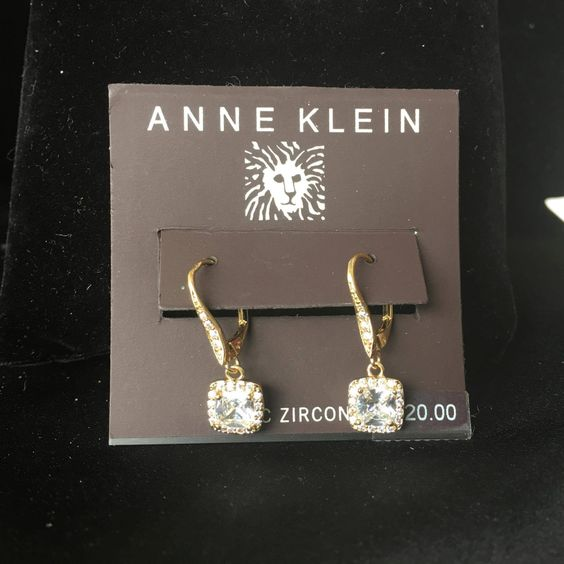 Anne Klein CZ Drop Earrings by RomeoNJulietBoutique on Etsy