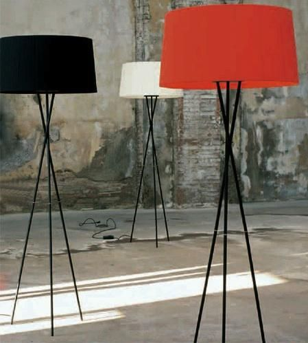 Tripod floor lamps have a more delicate profile than the single stem variety (because of the stability afforded by the tripod base, they don't require a heavy grounding base). We've rounded up some of our favorites, in a range of finishes and prices. For more ideas, see Design Sleuth: Photographer's Tripod Lamp.