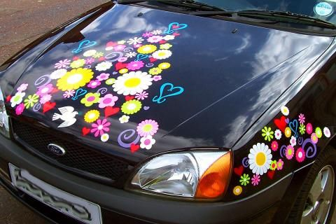 Hippy Motors Vinyl Decals For The Car Pinterest Car Stickers