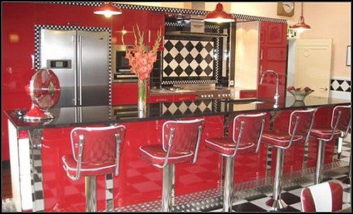bedroom ideas   theme decor   retro decorating style   diner   party  decorations   1950 bedding   retro diner furniture   Elvis Presley   booth  dinette. 8 best 50 s style diner images on Pinterest   Retro kitchens