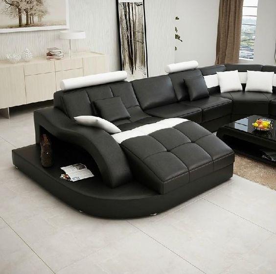 Impressive White Bonded Leather Sofa 3 White Leather: Lederen Sectionele Sofa, Lederen Sectionals And Bank Met