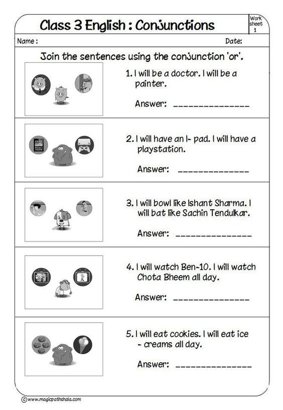 Worksheets Worksheets For Class3 English 17 best images about english conjunctions simple and this is very attractive worksheet of class 3 conjunctions