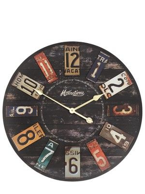 Clock, Licence plates and Wall clocks on Pinterest