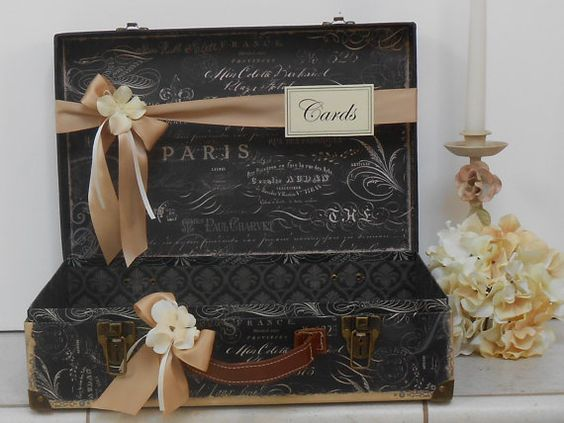 For ashley only suitcase wedding cardholder
