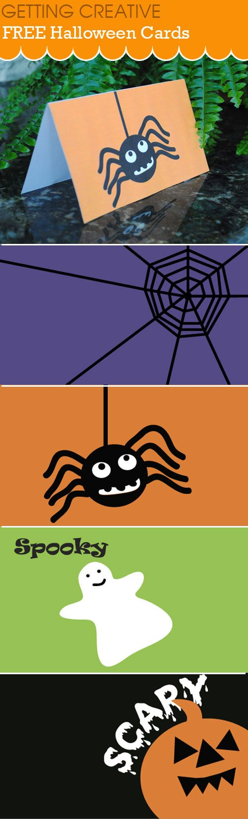 Download free Halloween cards for free. Great to use as Halloween party invites. there are four designs to chose from