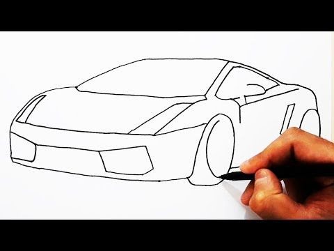 How To Draw Lamborghini Easy Drawing Car Cok Kolay Spor Araba Cizimi Lamborghini Nasil Cizilir Youtube 2020 Drawing Araba Spor Arabalar