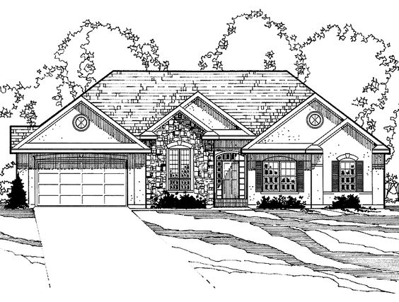 Eplans New American House Plan - Four Bedroom New American - 2825 Square Feet and 4 Bedrooms(s) from Eplans - House Plan Code HWEPL57660