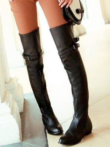 Details about CooLcept women fashion sexy long over the knee high