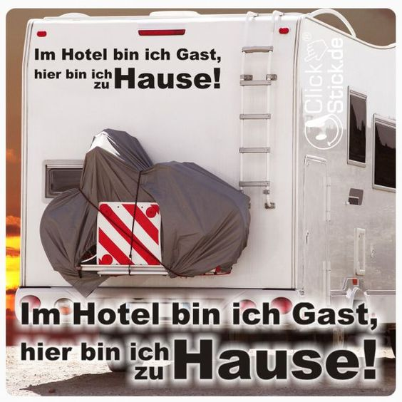 WoMo003 Im Hotel bin ich Gast... Wohnmobil Aufkleber Wohnwagen