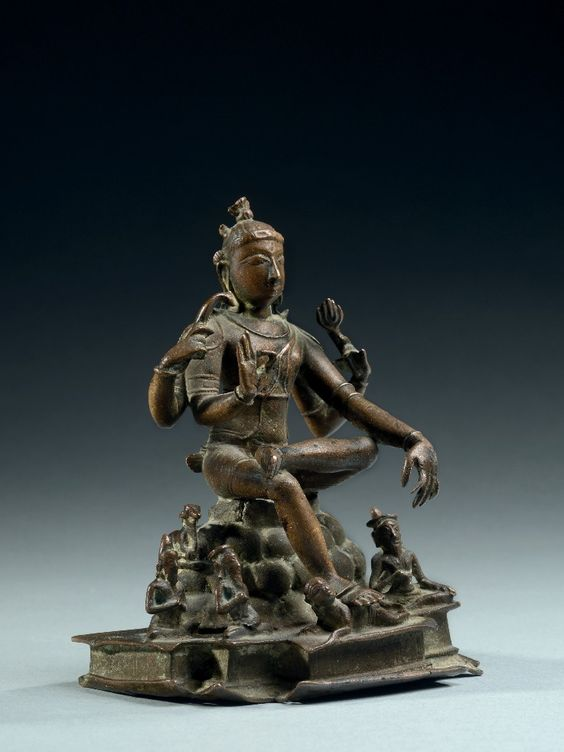 Shiva Jnana Dakshinamurti  India, Tamil Nadu, Vijayanagar  15th century Bronze, cast in the lost wax method Height: 13cm