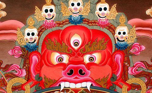 チベット仏教の閻魔王の仏画