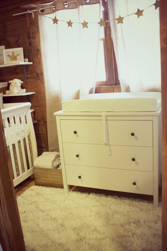 This room was transformed from a laundry room to a nursery! #nursery #smallspace