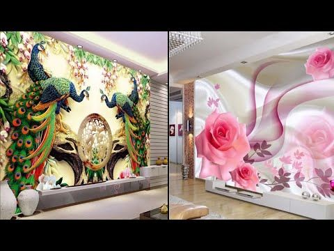 Modern And Stylish 3d Wall Decoration In Living Room Display Wall Stickers For Living Room Youtube With Images Wall Stickers Living Room Room Display 3d Wall