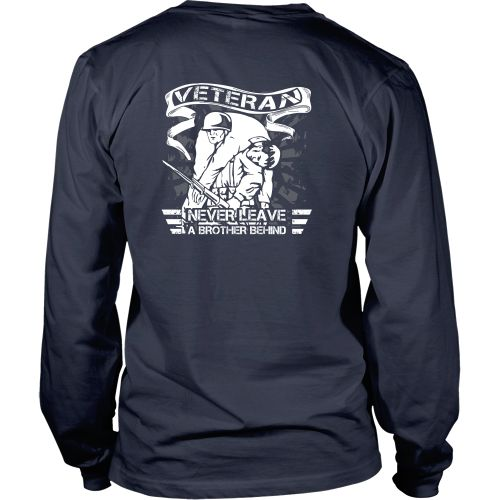 Veterans T-shirt - Never leave a brother behind