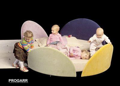 Letto rotondo per bebè IL LOFT FELIX BABY design Giorgio Saporiti bed children