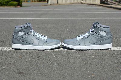 Air Jordan 1 Mid - Cool Grey/White - $105