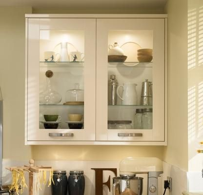 Joinery cream and shelves on pinterest for Cream kitchen wall units