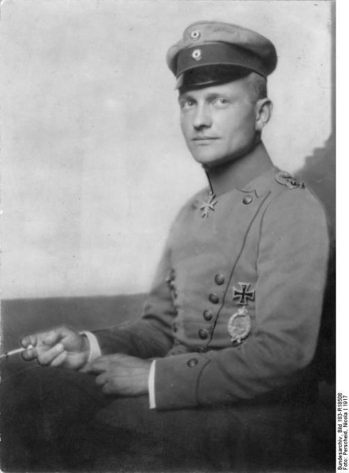 """Bundesarchiv - Manfred von Richthofen """"Der rote Kampfflieger"""""""