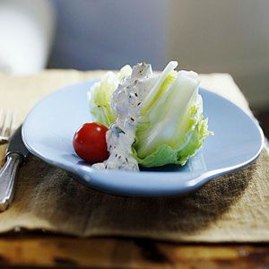 Iceberg Lettuce with Cucumber Dressing