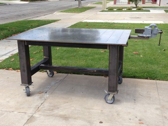Sweet fab table build welding projects pinterest for Plan fabrication table