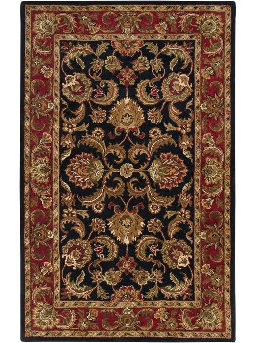 This Ancient Treasures Collection rug (A-108) is manufactured by Surya. Crafted with rare quality, this exquisite Collection features a series of traditional Persian designs capturing the essence of ancient traditions and majesty.