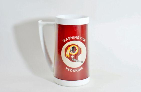 Vintage Thermo Serv Washington Redskins Mug Nfl Football Handled Insulated Usa Rare by DoorCountyVintage on Etsy