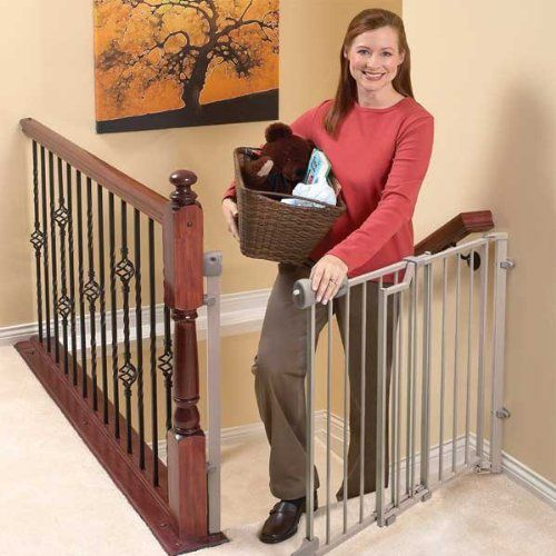 Evenflo Easy Walkthru Baby Gate For Top Of Stairs Top Of Stairs Gate Stair Gate Baby Gate For Stairs