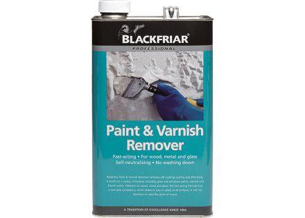Blackfriar Paint and Varnish Remover requires minimal preparation. After stripping, no washing down is needed unless you are re-coating the surface with emulsion or any type of water-based finish.