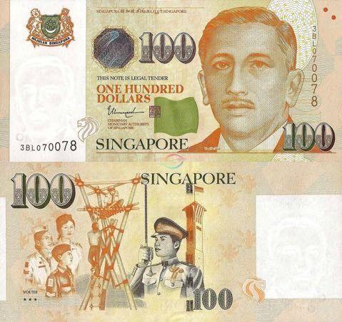 Singapore 100 Dollars 2009 Bank Notes Numismatics Singapore
