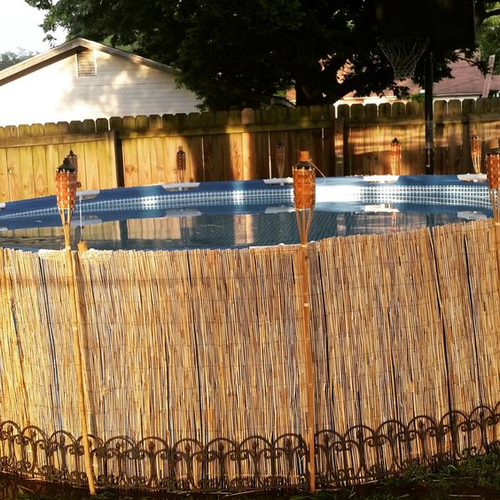 An inexpensive way to dress up your above ground pool for Cheap swimming pools near me