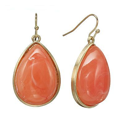 SONOMA life + style Gold Tone Cabochon Teardrop Earrings