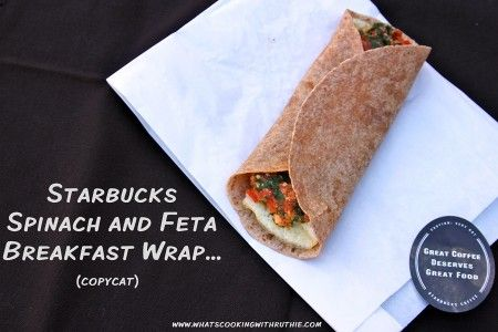 Starbucks Spinach and Feta Breakfast Wrap (copycat) tastes just like the original and it's SIMPLE to make! @whatscookingwithruthie.com #starbucks #recipes