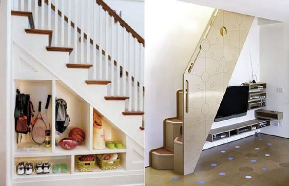 Cool storage space under stairs ideas for the home - Staircase design for small spaces pict ...