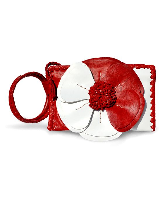 Adam Alexis Red & White Natalie Wristlet on zulily today!