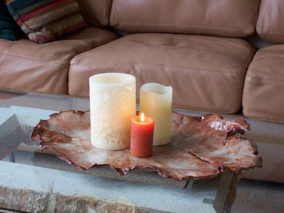 Large Earthy Ceramic Art Tray Cream Rust Clay by CeramicDesires, $150.00 #etsysns #handmadebot #boebot