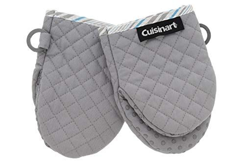 Cuisinart Silicone Mini Oven Mitts 2pk Little Oven Gloves For Cooking Heat Resistant Non Slip Grip Hanging Loo In 2020 Oven Glove Mini Oven Oven Mitts