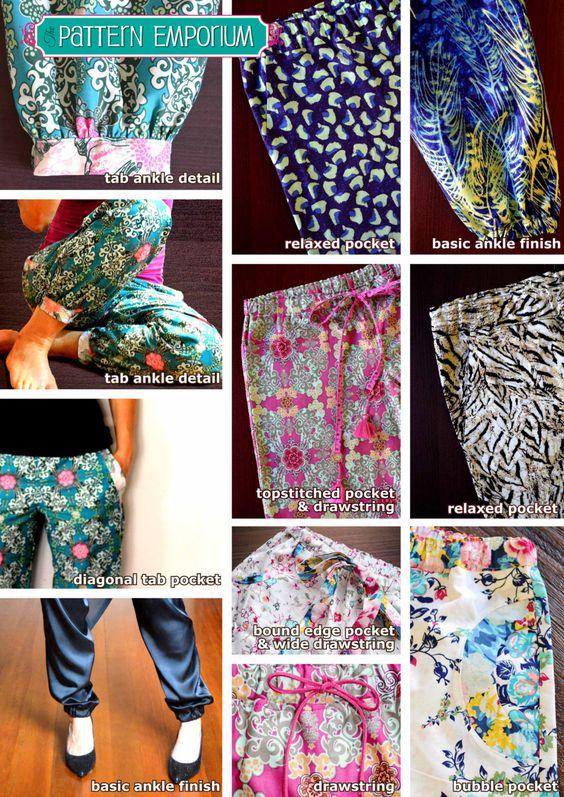 Damen PLUDERHOSE Hosen & Lounge Hose PDF von MyPatternEmporium, $12,00
