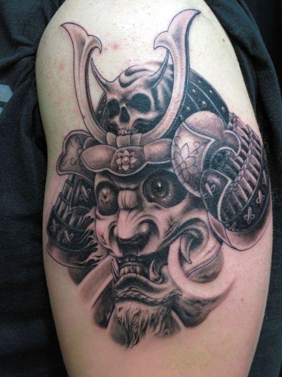 zen and samurai tattoo the samurai helmet tattoo meaning. Black Bedroom Furniture Sets. Home Design Ideas