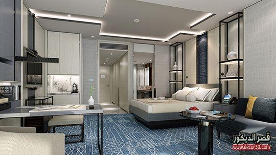 دهانات غرف نوم الوان الحوائط الحديثة Modern Bedroom Paints قصر الديكور Hotel Room Design Luxury Apartments Hotel Bedroom Decor
