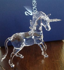 Swarovski Crystal Unicorn Figure Item 630119 Elegant and Beautiful 4 75"