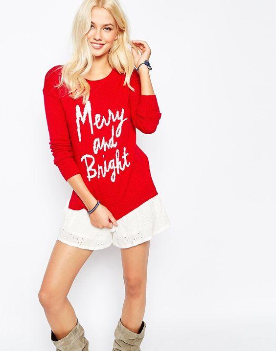 Surprising Hollister Merry Amp Bright Christmas Jumper Christmas Jumpers Easy Diy Christmas Decorations Tissureus