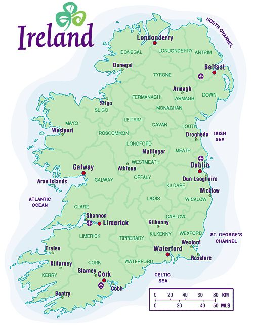 Ireland Map – Map Usa to Ireland