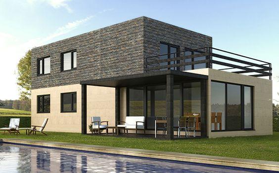 Casas modulares prefabricadas cube cube 175 modelos est ndar de casas prefabricadas casas - Casas prefabricadas cube ...