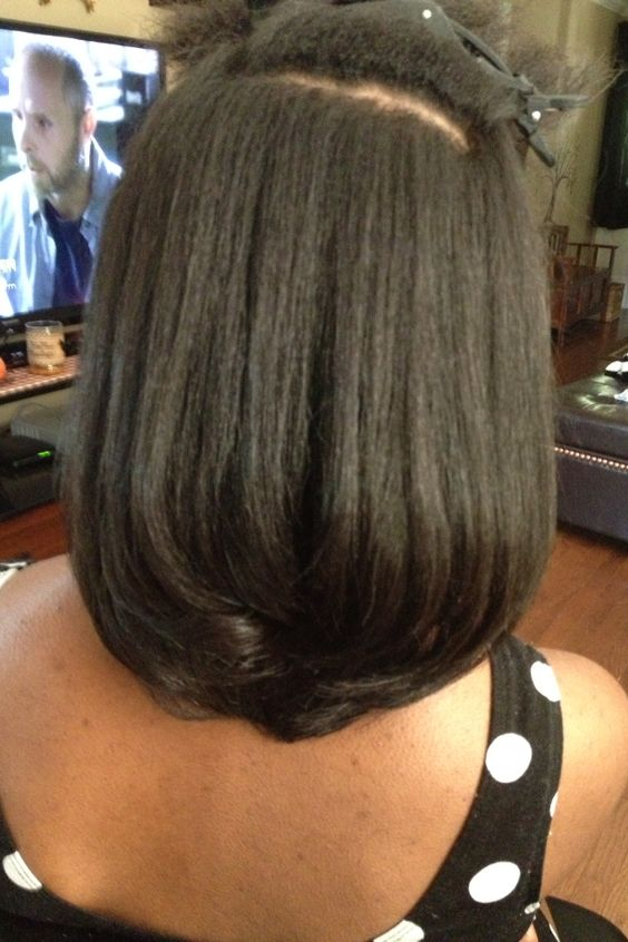 Natural hair blowout and straightened Kinky,Curly,Relaxed,Extensions Board