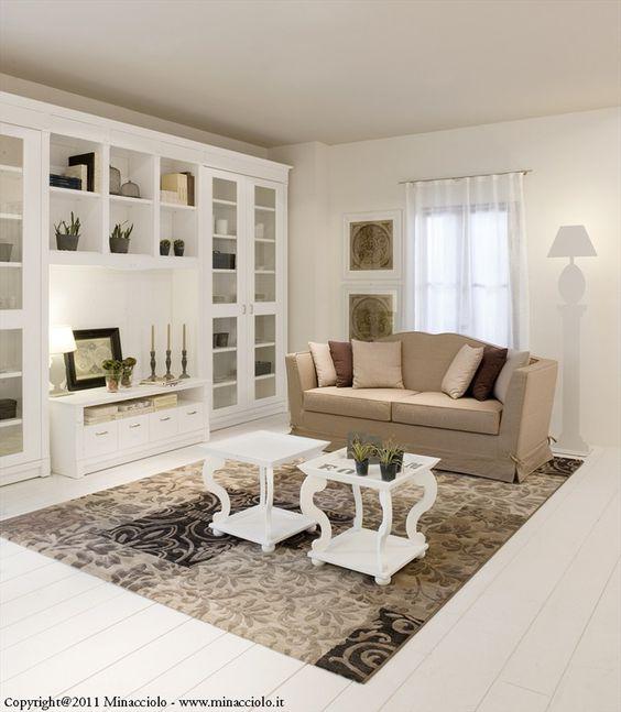arredo zona giorno in legno massello english mood   parete ... - Idee Arredamento Zona Living